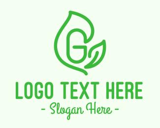 Resource - Leafy Letter G logo design