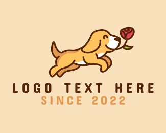 Pet Accessories - Puppy Dog Rose  logo design