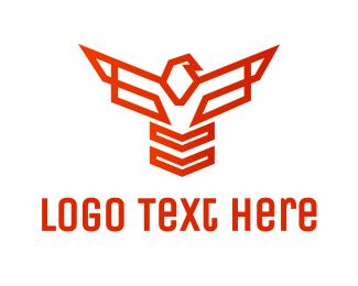 Hawk - Geometric Hawk Outline logo design
