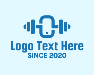 Weighlifting - Blue Online Fitness Training logo design