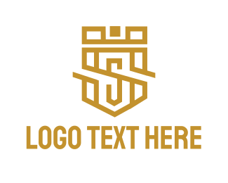 Queen - Luxury S Shield logo design
