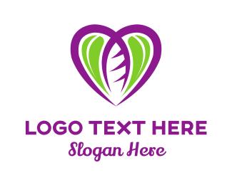 Leaf - Leaf Heart logo design