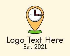 Restaurant - Location Utensils Clock logo design