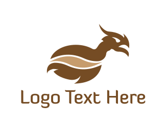White And Brown - Brown Dragon logo design