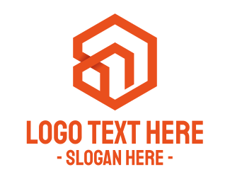 Construction - Hexagon Abstract House logo design