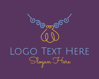 Seashell - Minimalist Seashell Necklace  logo design