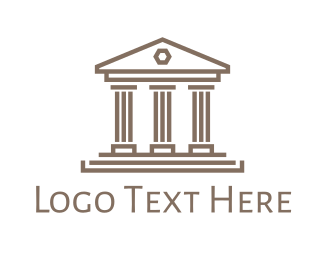 Coliseum - Pillar House Outline logo design