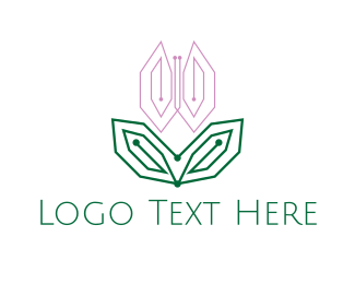 Web Design - Digital Pink Tulip logo design