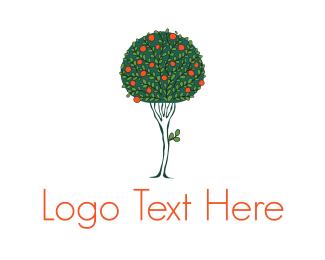 Bush - Apple Tree logo design