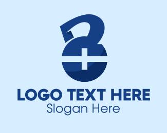 Recovery - Medical Cross Kettlebell logo design