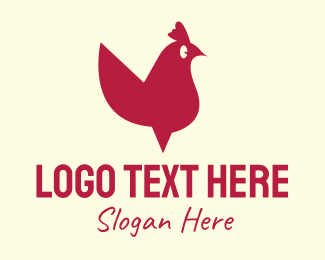 Poultry Farm - Red Rooster logo design