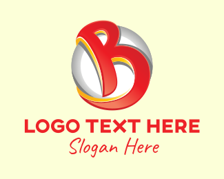 Initial - 3D Letter B logo design