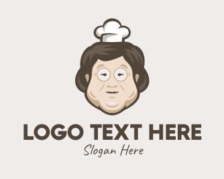 Grandma - Asian Grandma Chef logo design