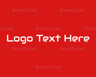 Web Design - Red Tech Wordmark logo design
