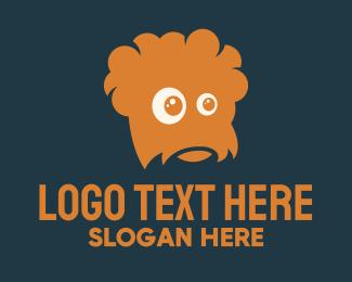 Monster - Orange Hairy Monster logo design