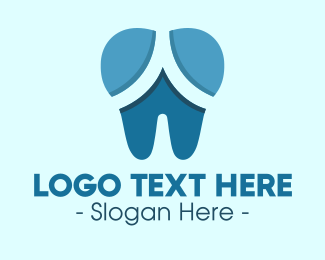 Teeth - Blue Dentist Dental Tooth logo design