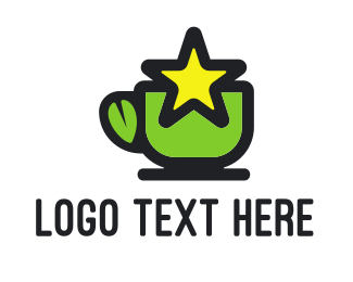 Tea - Star Green Tea logo design