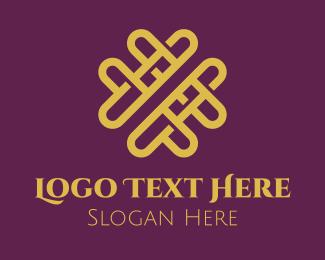 Valentines Day - Golden Elegant Valentine logo design