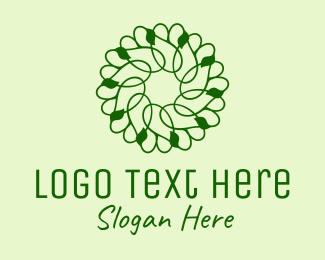 Vine - Green Vines Pattern  logo design
