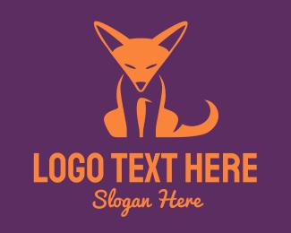 Orange Orange - Orange Fox Cub logo design