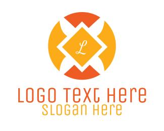 Orange Beauty Emblem  Logo