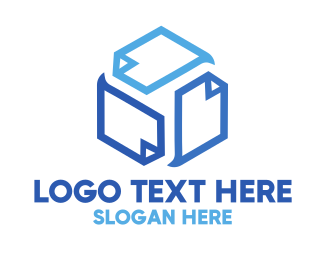University - Cube Pages logo design