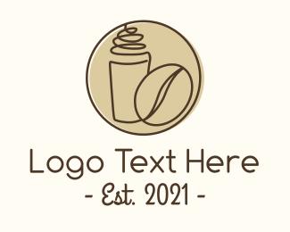 Drinking Cup - Minimalist Coffee Shop logo design