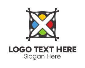 Advertising - Colorful Flower X logo design