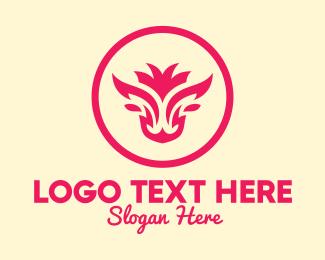 Circle - Feminine Bull Head logo design
