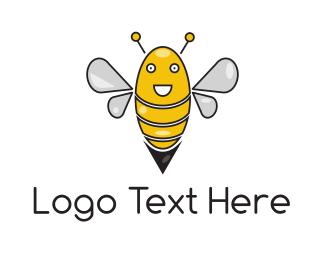Joy - Happy Bee logo design
