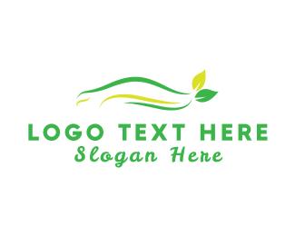 Sedan - Eco Automotive logo design