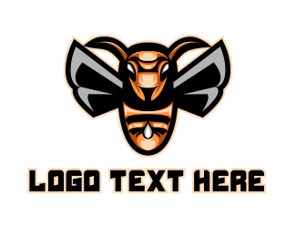 Clan - Bee Sting Gaming Mascot logo design