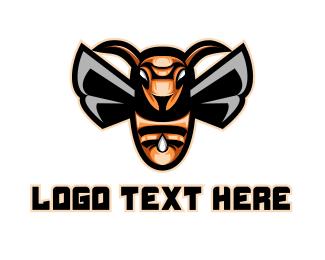 Pest - Bee Sting Gaming logo design