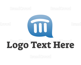 Communicate - Pillar Chat logo design