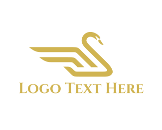 High Quality - Royal Swan logo design