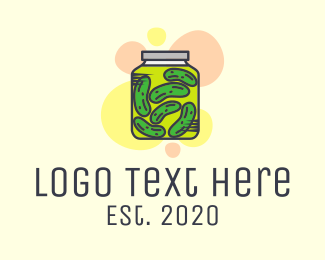 Healthy Food - Modern Pickle Jar  logo design