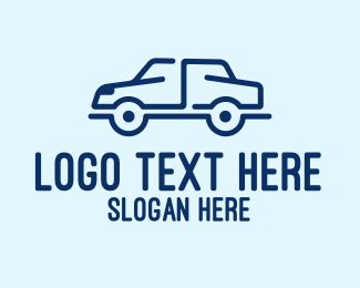 Simple Blue Car Style Logo