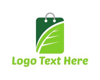 Amazon - Green Shopping logo design