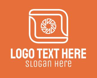 Camera Parts - Finger Frame Camera  logo design