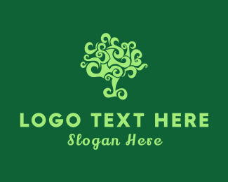 Curl - Curly Tree logo design