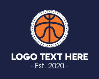 Hoops - Basketball League Tournament logo design