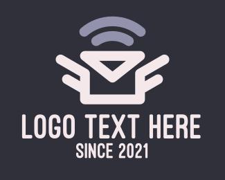 Transfer - Envelope Mail Signal logo design