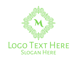 Arabic - Green Vines Lettermark logo design