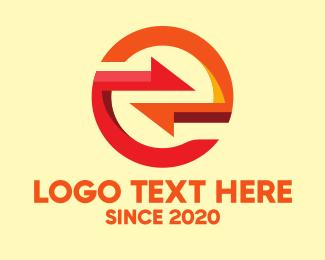 Digital Marketing - Digital Letter E logo design