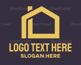 Build - Minimalist House Outline logo design