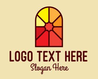 Christian Fellowship - Stained Glass Religious logo design