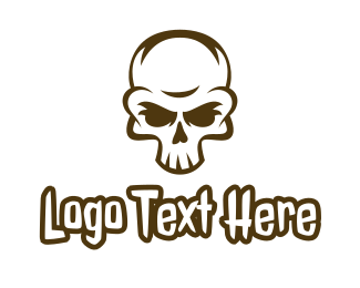 Corps - Aged Skull Head logo design