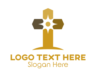 Bible Study - Elegant Sun Cross  logo design