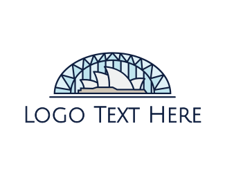 Harbour Bridge - Sydney Opera House logo design