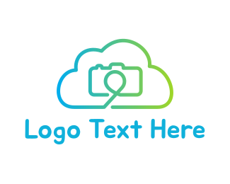 Green Camera - Camera Cloud logo design